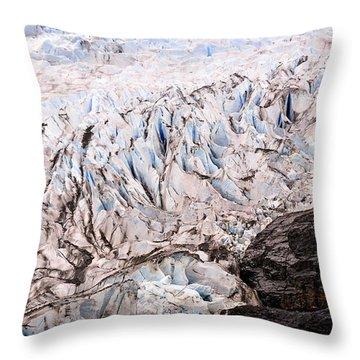 Rolling Ice Peaks Throw Pillow by Davina Washington