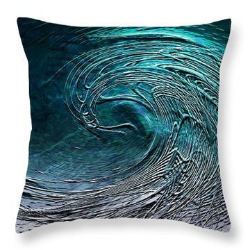 Rolling In The Deep Throw Pillow by Barbara Chichester