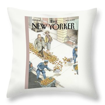 Rolling Out The Gold Carpet Throw Pillow