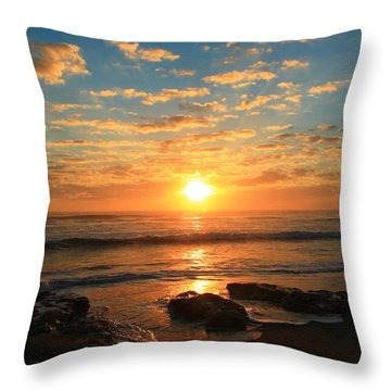 Rolling Over Rocks Throw Pillow