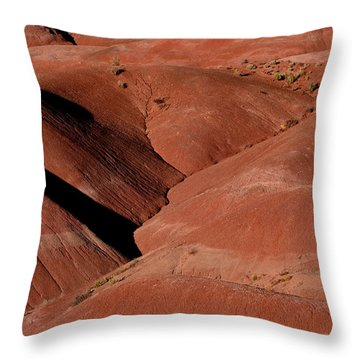 Throw Pillow featuring the photograph Rolling Red Hills by Nadalyn Larsen