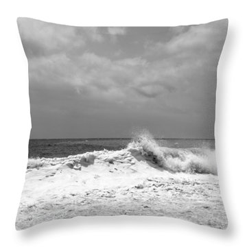 Rolling Surf  Throw Pillow