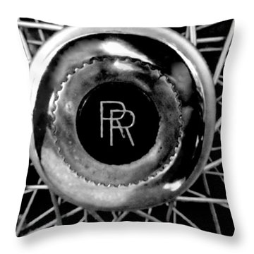 Rolls Royce - Black And White Throw Pillow