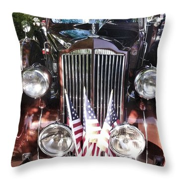 Rolls Royce Car  Throw Pillow