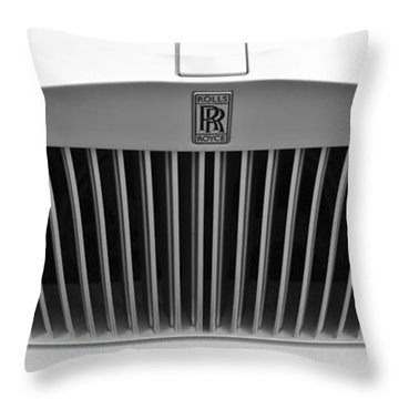 Rolls Royce Throw Pillow by Maj Seda