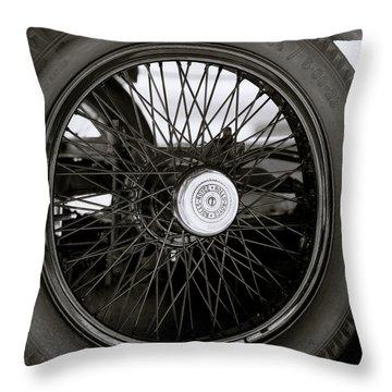 Rolls Royce Wheel Throw Pillow