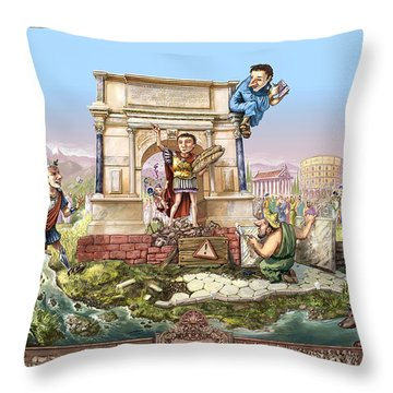 Roma I Throw Pillow