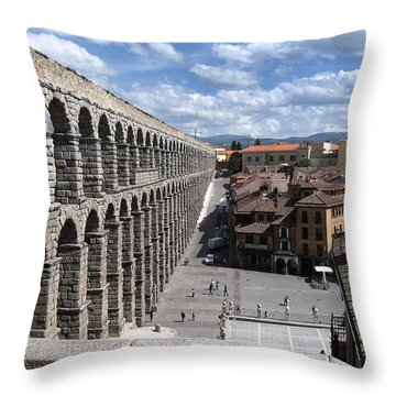 Roman Aqueduct I Throw Pillow by Farol Tomson