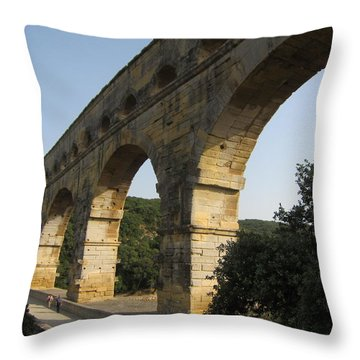 Roman Aqueduct Throw Pillow by Pema Hou
