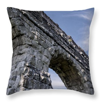 Roman Aqueducts II Throw Pillow by Joan Carroll
