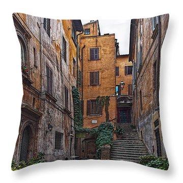 Roman Backyard Throw Pillow by Hanny Heim