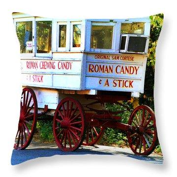 Roman Candy Throw Pillow by Scott Pellegrin