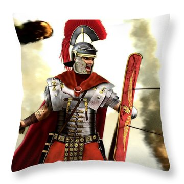 Roman Centurion Throw Pillow