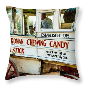 Roman Chewing Candy Nola Throw Pillow by Kathleen K Parker