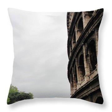 Throw Pillow featuring the photograph Roman Coliseum by Tiffany Erdman