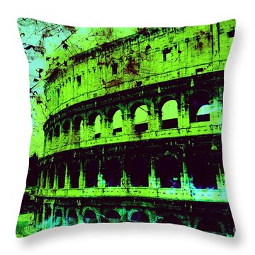 Roman Colosseum Throw Pillow