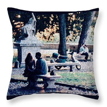 Throw Pillow featuring the photograph Roman Romance Tivoli Gardens by Tom Wurl