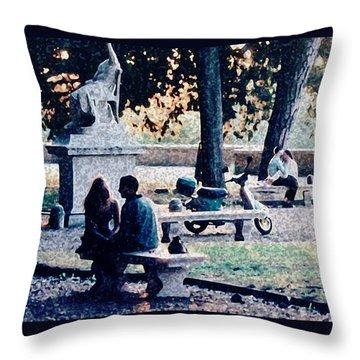 Roman Romance Tivoli Gardens Throw Pillow