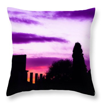 Roman Sunrise Throw Pillow