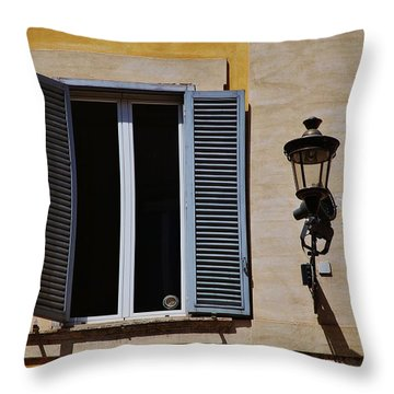 Roman Window Throw Pillow by Dany Lison