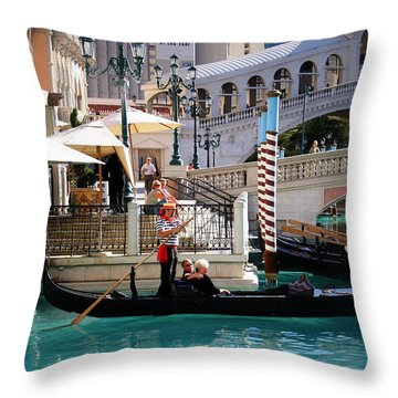 Romance At The Venetian Throw Pillow