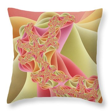 Throw Pillow featuring the digital art Romance by Gabiw Art