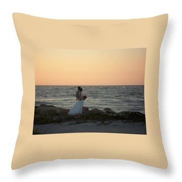 Romance In Captiva Throw Pillow by Val Oconnor