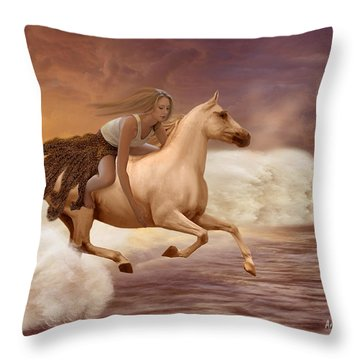 Romance In Her Dream Throw Pillow by Angela A Stanton