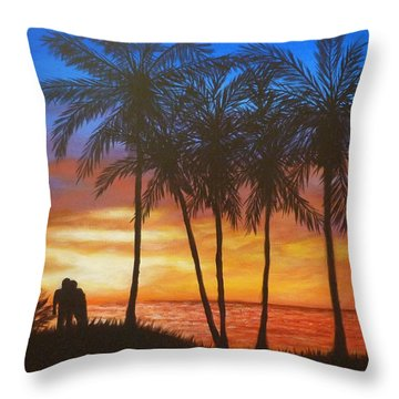 Romance In Paradise Throw Pillow
