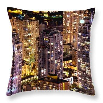 Romantic Yaletown Vancouver Canada Mcdxxxi Throw Pillow