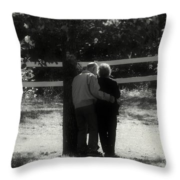 Romance Never Dies Throw Pillow by Peggy Franz
