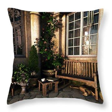 Romance Novel Throw Pillow by Cynthia Decker