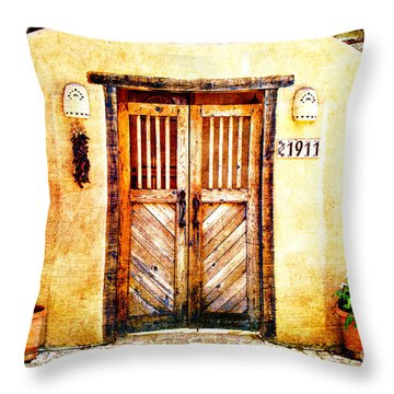 Romance Of New Mexico Throw Pillow by Barbara Chichester
