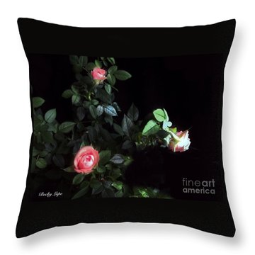 Romance Of The Roses Throw Pillow