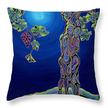 Romance On The Vine Throw Pillow