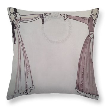 Romance Throw Pillow by Sarah Parks