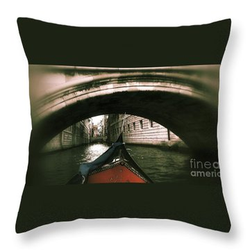 Throw Pillow featuring the digital art Romance Under The Bridge by Delona Seserman