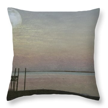 Romancing The Moon Throw Pillow