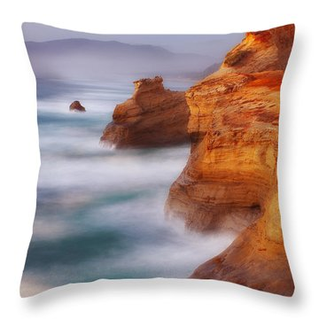 Romancing The Stone Throw Pillow by Darren  White