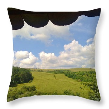 Throw Pillow featuring the photograph Romanian Hills by Ramona Matei