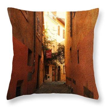 Romano Cartolina Throw Pillow by Micki Findlay