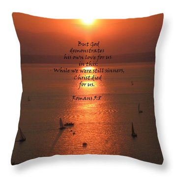 Romans 5 8 Throw Pillow