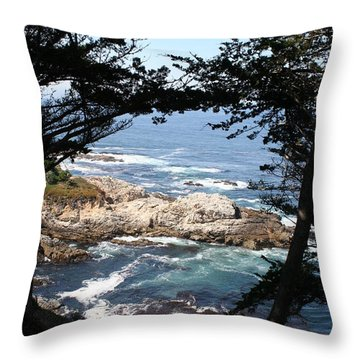 Romantic California Coast Throw Pillow