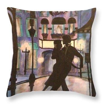 Romantic Dance Throw Pillow by Lynne McQueen