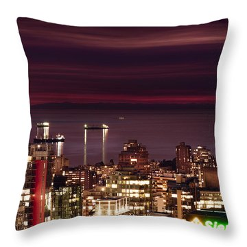 Throw Pillow featuring the photograph Romantic English Bay Mdcci by Amyn Nasser