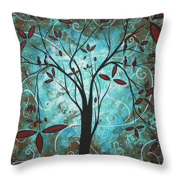 Romantic Evening By Madart Throw Pillow by Megan Duncanson