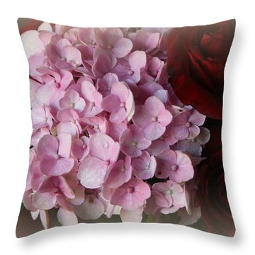 Throw Pillow featuring the photograph Romantic Floral Fantasy Bouquet by Kay Novy