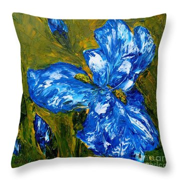 Romantic Iris Throw Pillow