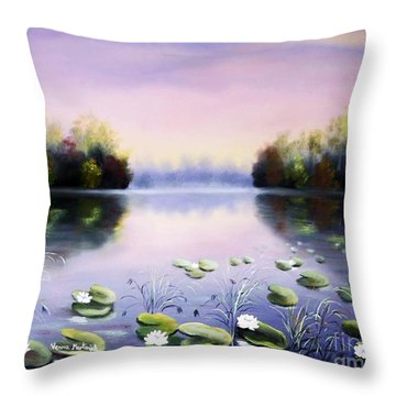 Romantic Lake Throw Pillow