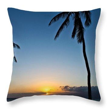 Romantic Maui Sunset Throw Pillow by Joann Copeland-Paul